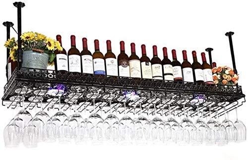 NBVCX Décoration de la Maison casier à vin ménage casier à vin Barre Fer Art Suspension et lumière Haute Taille du Porte-gobelet Couleur à Choix Multiple (Couleur: Taille B: 60 * 35 cm)