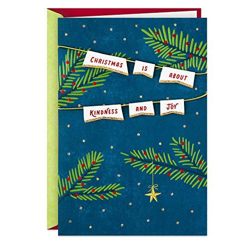 Hallmark Christmas Card (Kindness and Joy) (599XXH3104)