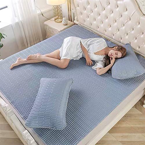 LIZIJIUX Ice silk mattress Latex Ice silk Mattresses Foldable Summer emulsion floor comfortable Mattress Bedspreads Twin King Queen Size