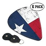 Texas 351 - Púas de guitarra de celuloide clásicas para guitarra eléctrica, acústica, mandolina, bajo y ukelelele, 71 mm, 6 unidades