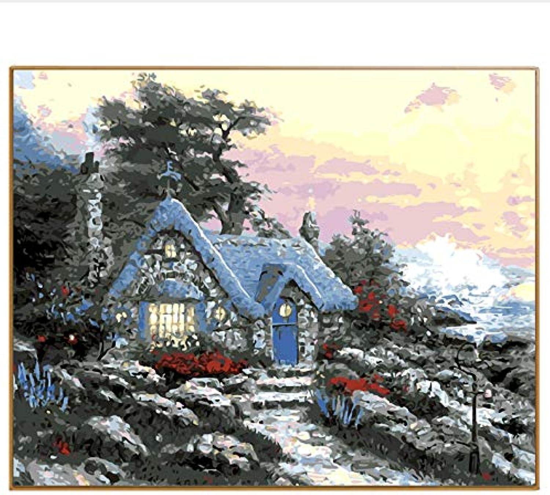 CZYYOU SegelStiefel Arcylic Malen Nach Zahlen Auf Leinwand Wandbilder Wandbilder Wandbilder Kunst Für Wohnzimmer Home Decoration, Mit Rahmen, 40x50cm B07PWDWVF3 | New Products  bfe94d