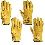Heavy Duty Gardening Gloves, Xndryan 2 Pairs Breathable and Flexible Garden Work...