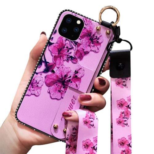 Aulzaju Schutzhülle für iPhone 11 mit Strasssteinen, stilvoll, faltbar, mit Ständer, weiches TPU, holografische Hybrid-Schutzhülle für iPhone 11 iphone 11 pro max 6.5 inch in 2019 violett