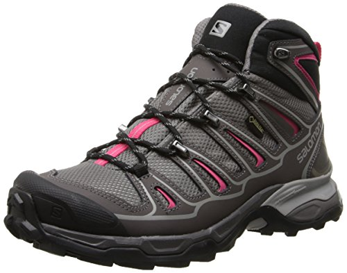 Salomon X Ultra Mid 2 GTX® - Zapatos Mujer, Gris (Detroit / Autobahn / Hot Pink), 38 EU