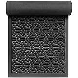 """Front Door Mat Outdoor Indoor 30 x 17"""", Rubber Heavy Duty Entrance Doormat, Durable Non-Slip Waterproof Floor Mats, Catch Dust and Moisture for Entry,Garage,Patio,RV,High Traffic Areas"""