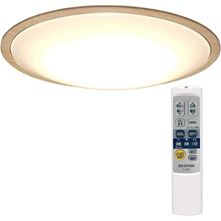 アイリスオーヤマ LED シーリングライト 調光 調色 タイプ ~12畳 メタルサーキットシリーズ ウッドフレーム ナチュラル CL12DL-5.1WFU