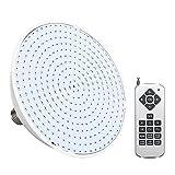 URRNDD Luz de Piscina, Bombilla LED Colorida para Piscina, lámpara subacuática de Control Remoto para Fuente de luz Par38 Par56(35W)