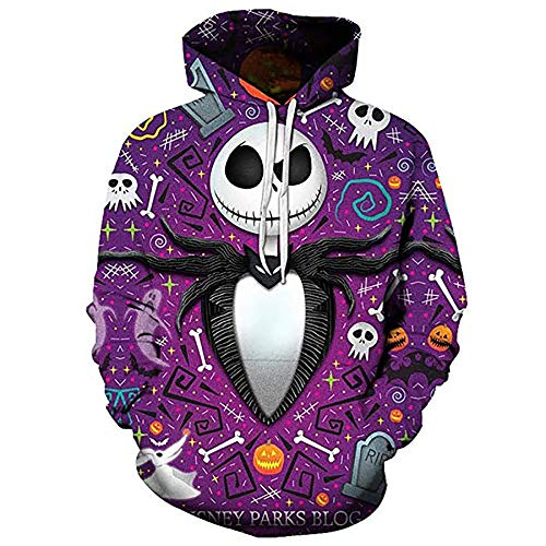 Zaima Men Women Hoodies Clown 3D Print Sweatshirts Casual Hoodie Cool Pullover Hoody Halloween Costume Funny Hooded Baseball Uniform Couple Sweater