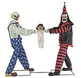 Seasonal Visions Clowns Tug of War Animated Prop
