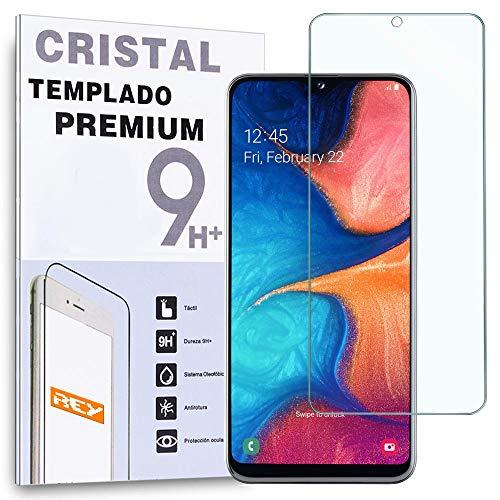 REY - Protector de Pantalla para Samsung Galaxy A20e, Cristal Vidrio Templado Premium