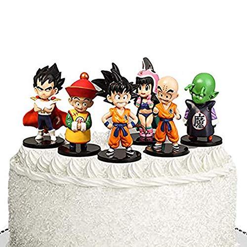 JIM - 6 Stück Dragon Ball Z Figuren, Dragon Ball Toy Collection Geschenk,Dragonball Themen Geburtstag Party Dekorationen