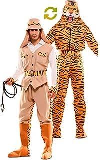 EUROCARNAVALES Disfraz Doble de Cazador y Tigre para Adultos