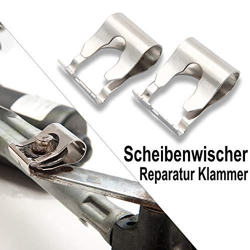 Overdrive-Racing Universal Reparatursatz Scheibenwischer Gestänge Reparatur Kit Klammern Repair Clip