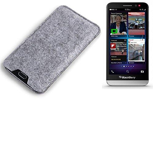 K-S-Trade® Filz Schutz Hülle Für BlackBerry Z30 Schutzhülle Filztasche Filz Tasche Hülle Sleeve Handyhülle Filzhülle Grau