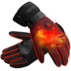 Mermaid Electric Heated Hand Warmer Gloves for Men Women Winter Gloves with Rechargeable Lithium Ion Battery Heats 3.7V