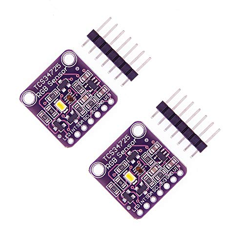 ZkeeShop 2 Stücke TCS34725 RGB Licht Farbsensor Erkennungsmodul Compatible für Arduino