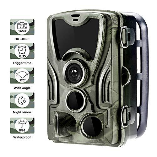 liu Wildkamera Jagdkamera mit 0.3s Auslösegeschwindigkeit wasserdichte Wildkamera Integrierte 940 nm LED Nachtsichtkamera für Nachtsicht und Sicherheit zu Hause 16MP