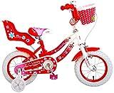 Volare Vélo d'enfant Lovely - Filles - 12 Pouces - Rouge - 95% assemblé