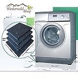 4 Anti-Rutschpads 10 cm x10 cm x 10mm Unterlage Waschmaschine Pads Gummipads Antivibration Vibrationsdämpfer Trockner