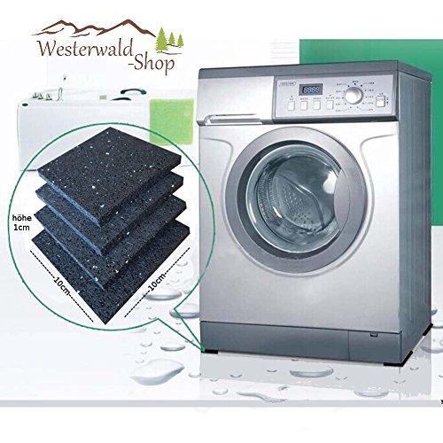 Westerwald-Shop 4 antislippads 10 cm x 10 cm x 10 mm onderlegger wasmachine pads rubberen pads antivibratie demper droger