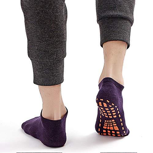 Ldd Calcetines de trampolín para Adultos y niños Calcetines Deportivos de algodón Antideslizante Transpirable Socks Socks Yoga Calcetines Masaje de pies