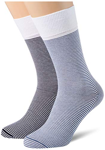 ESPRIT Herren Allover Stripe 2-Pack M SO Socken, Mehrfarbig (Sortiment 10), 43-46 (2er Pack)