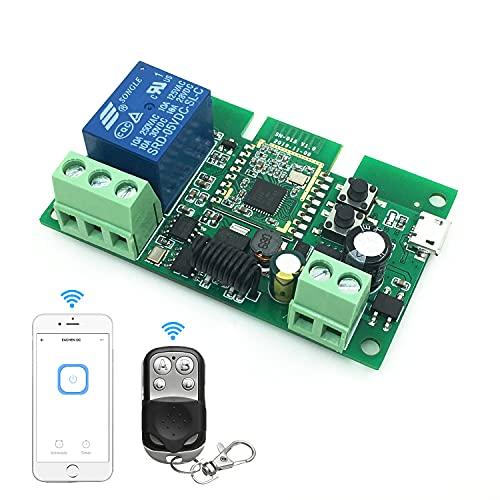 Interruttore Relè Intelligente ZigBee A 1 Canale 5-12v, Modulo Relè Wifi, Funziona con Alexa/google Assistant e IFTTT, Compatibile con Ewelink/TUYA Smart Life App