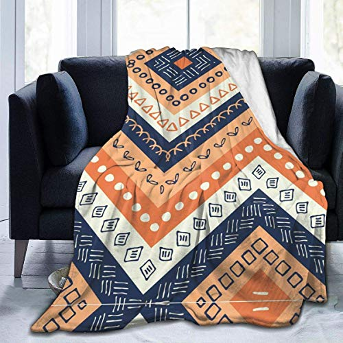 LREFON Mantas para Sofás Reversible de Franela/Sherpa,Boho Boho Stripe Multicolore,Manta para Cama de 100% Microfibra Extra Suave-Manta de Felpa