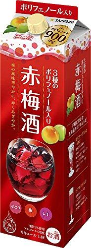 3種の贅沢 ポリフェノール 赤梅酒 [ 1800ml ]