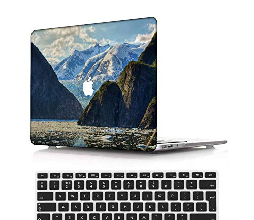 NEWCENT New MacBook Pro 13' Case,Plastic Ultra Slim Light Hard Case UK Keyboard Cover for Mac Pro 13 with/Without Touch Bar 2019 2018 2017 2016 Release(Model:A2159/A1989/A1706/A1708),Sky Series 0253