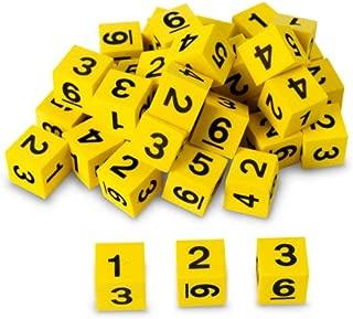Nasco TB18747T Number Dice Set, 5/8