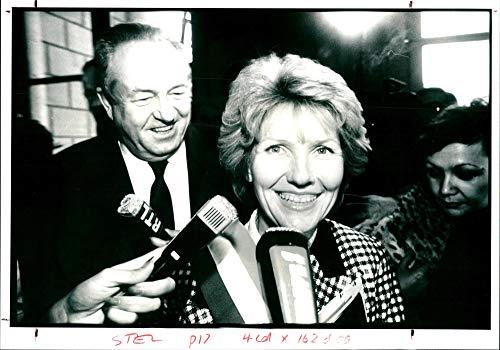 Marie-France Stirbois and Jean-Marie Le Pen. - Vintage Press Photo