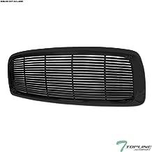 Topline Autopart Black Horizontal Front Hood Bumper Grill Grille ABS For 02-05 Dodge Ram 1500/03-05 2500/3500