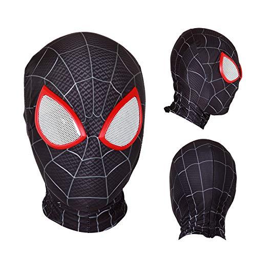 Halloween Mask Superhero Masks Cosplay Costumes Mask Lycra Fabric Material (Adult mask, 001)