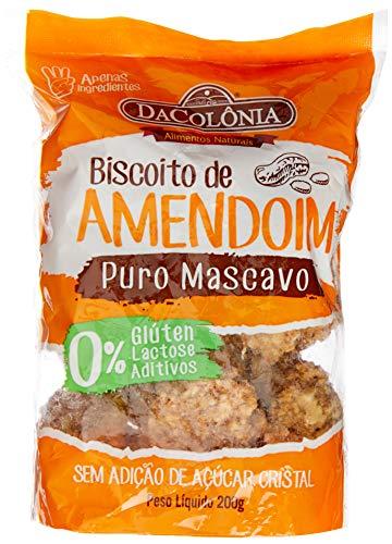 Bisc. De Amendoim Com Açúcar Mascavo - Sem Lactose/Gluten