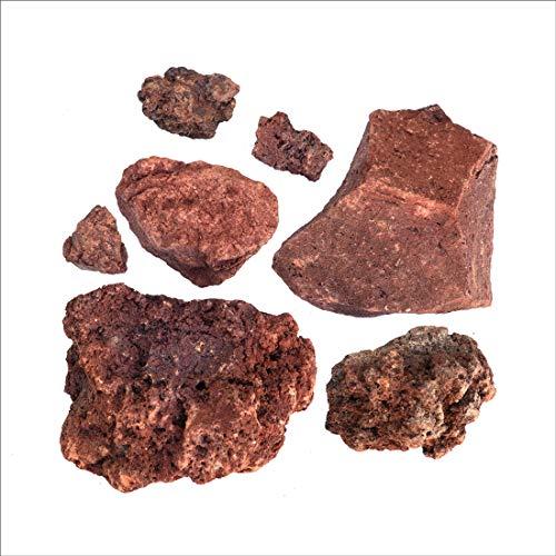 溶岩石 レッド 50-150mm 10kg