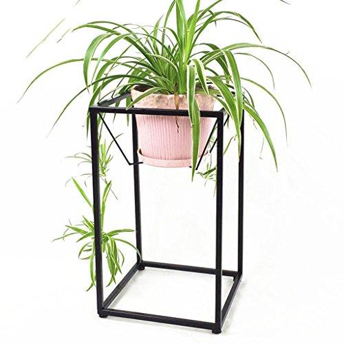 LYM & Pot Rack Porte-Fleurs en Fer, Salon Pot de Pot de Fleurs Balcon Bonsai Frame Plant Display Stand Pots à Fleurs décoratifs (Couleur : Noir, Taille : 30 * 30 * 50CM)