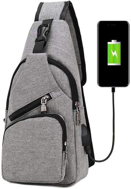 XTUNWM Portable Outdoor Backpack USB Charging Backpack Men Travel MultiFunctional Small Bag Carrying Waterproof School Bag