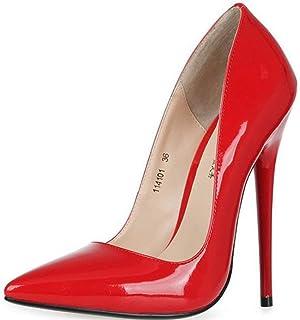 Oudan Zapatos de tacón Alto, Rojos, 35. (Color   como se Muestra, tamao   Un tamao)
