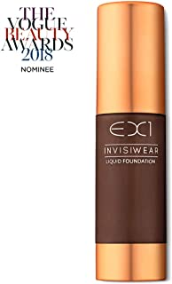 EX1 Cosmetics Invisiwear Liquid Full Coverage Foundation Makeup Shade 20.0 - Vegan, Oil and Fragrance Free, Dermatologically and Clinically Tested
