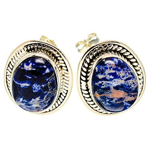 Ana Silver Co Sodalite Earrings 3/4' (925 Sterling Silver)