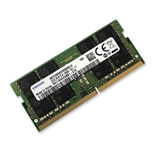 Samsung 32GB DDR4 2666MHz RAM Memory Module for Laptop Computers (260 Pin SODIMM, 1.2V) M471A4G43MB1 1