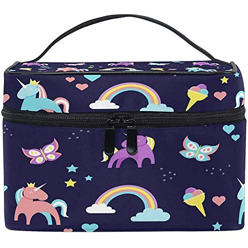 Rainbow Unicorn Cosmetic Bag Butterfly Toiletry Makeup Bag Pouch Tote Case Organizer Storage for Women Girls