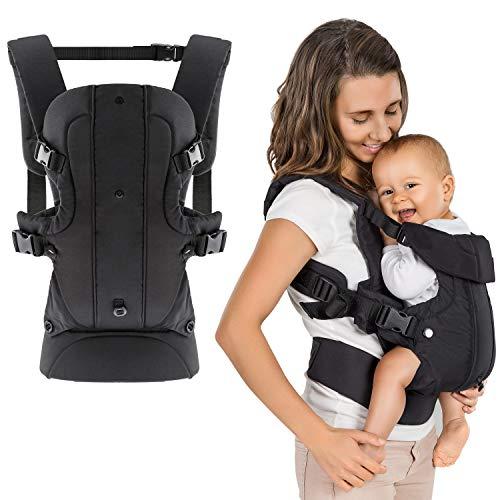 Fillikid - Ergonomische Babytrage/Kindertrage 4in1 - Bauchtrage, Rückentrage, variable Blickrichtung/mitwachsend, verstellbar - für Neugeborene & Kleinkinder (3,5-15 kg)