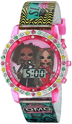 L.O.L. Surprise. Reloj de Cuarzo para niña con Correa de Caucho, Multicolor, 13 (Modelo: LOL4307OMGAZ)