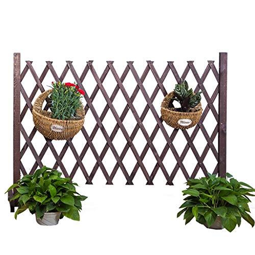 HUAYUAN Gartenzaun Außendekoration Erweiterbaren Verkohlt Korrosionsschutz Holzzaun Pflanze Kletterhilfs Spalier Innen Haustier Trennwand, 4 Größen (Size : 90×190cm/35.4×74.8inch)