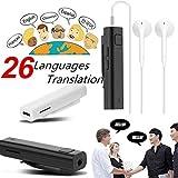 Traductor de Voz multilingüe Blue-Tooth Receptor de traducción portátil 26 Idiomas Traductor instantáneo Traducción de Tiempo Real