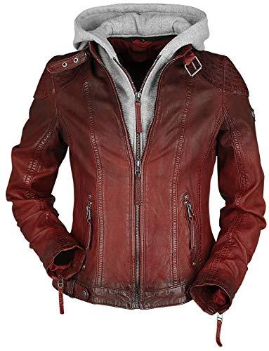 Gipsy Frauen Lederjacke rot XS 100% Leder Basics