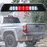 Smoke LED Third 3rd Brake Light Lamp Replacement for 2007-2018 Toyota Tundra Waterproof High Mount Stop Light Rear Tail Brake Light Cargo Lamp