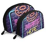 Syplog Lot de 2 panneaux publicitaires avec fermeture éclair Motif Donuts Neon